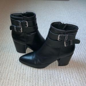 2 1/2 inch booties with buckles